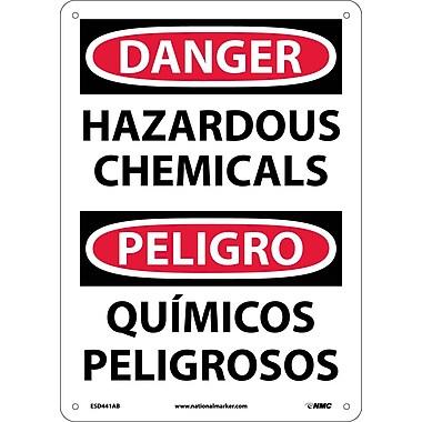 Danger, Hazardous Chemicals Bilingual, 14X10, .040 Aluminum