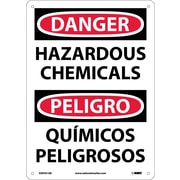Danger, Hazardous Chemicals Bilingual, 14X10, .040 Aluminum