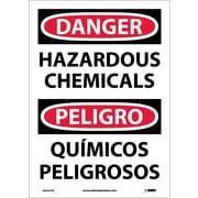 Danger, Hazardous Chemicals Bilingual, 14X10, Adhesive Vinyl