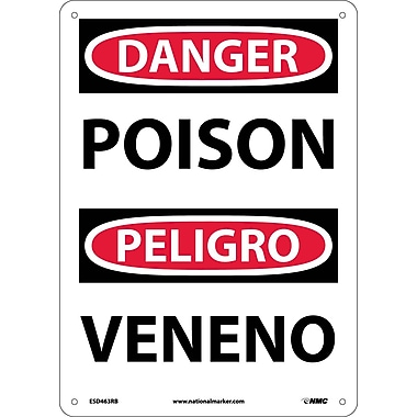 Danger, Poison Bilingual, 14X10, Rigid Plastic