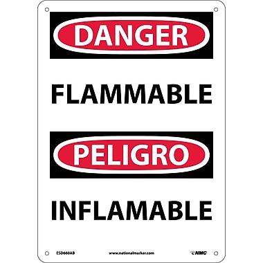 Danger, Flammable, Bilingual, 14X10, .040 Aluminum