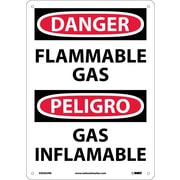 Danger, Flammable Gas, Bilingual, 14X10, Rigid Plastic