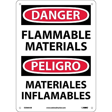 Danger, Flammable Materials, Bilingual, 14X10, .040 Aluminum