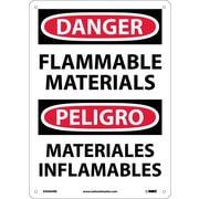 Danger, Flammable Materials, Bilingual, 14X10, Rigid Plastic
