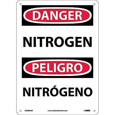 Danger, Nitrogen, Bilingual, 14X10, .040 Aluminum