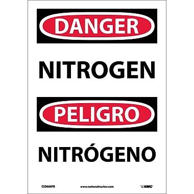 Danger, Nitrogen, Bilingual, 14X10, Adhesive Vinyl