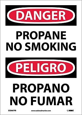 Danger, Propane No Smoking, Bilingual, 14X10, Adhesive Vinyl