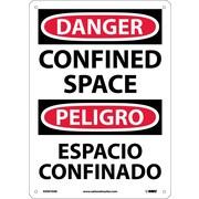 Danger, Confined Space, Bilingual, 14X10, .040 Aluminum