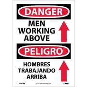 Danger, Men Working Above (Graphic) Bilingual, 14X10, Adhesive Vinyl