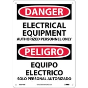 Danger, Electrical Equipment Authorized Personnel Only, Bilingual, 14X10, Rigid Plastic