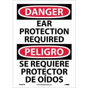 Danger, Ear Protection Required, Bilingual, 14X10, Adhesive Vinyl