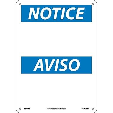 Notice, (Blank) (Bilingual), 14X10, Rigid Plastic