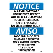 Notice, All Employees Are Required To Report..(Bilingual), 20X14, Adhesive Vinyl