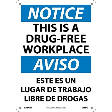 Notice, This Is A Drug-Free Workplace, Bilingual, 14X10, Rigid Plastic