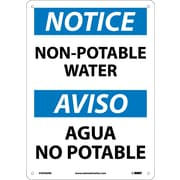 Notice, Non-Potable Water, Bilingual, 14X10, Rigid Plastic