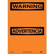 Warning Advertencia Blank, Bilingual, 14X10, Adhesive Vinyl