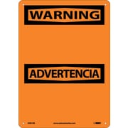 Warning Advertencia Blank,  Bilingual, 14X10, Rigid Plastic