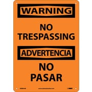 Warning, No Trespassing Bilingual, 14X10, .040 Aluminum