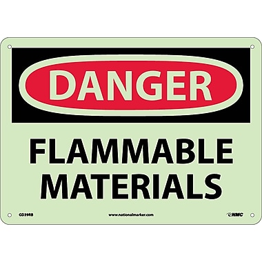 Danger, Flammable Materials, 10