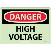 Danger, High Voltage, 10X14, Rigid Plasticglow