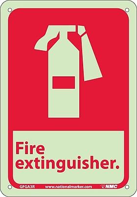Fire, Fire Extinguisher, 10X7, Rigid Plasticglow