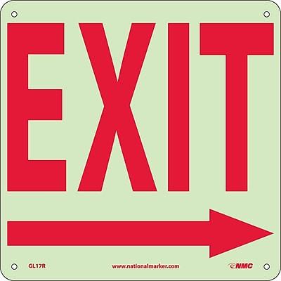 Exit (With Right Arrow), 10X10, Glow Rigid