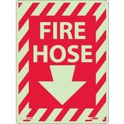 Fire Hose (With Down Arrow), 12X9, Glow Rigid
