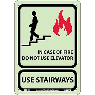 In Case Of Fire Do Not Use Elevator.., 10X7, Glow Rigid
