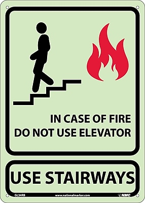 In Case Of Fire Do Not Use. . ., 14X10, Glow Rigid