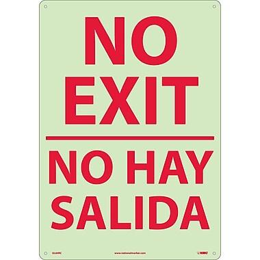 No Exit (Bilingual), 20X14, Glow Rigid