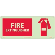 Fire, Fire Extinguisher, Graphic, 7X17, Rigid Plasticglow
