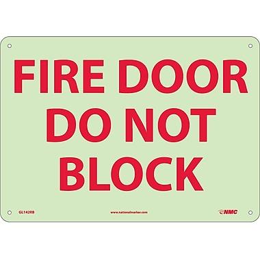 Fire, Fire Door Do Not Block, 10
