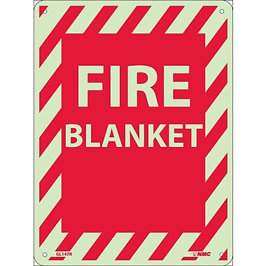Fire, Fire Blanket, 12X9, Rigid Plasticglow
