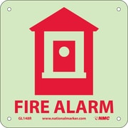 Fire, Fire Alarm, 7X7, Rigid Plasticglow