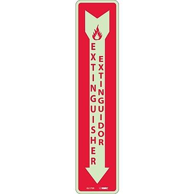 Fire, Fire Extinguisher Bilingual, 18X4, Rigid Plasticglow