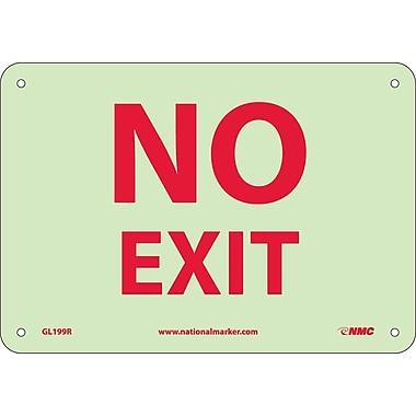 Misc, No Exit, 7X10, Rigid Plasticglow