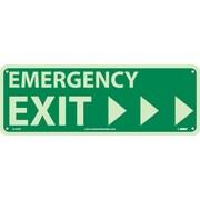 National Marker - Panneau de sécurité Emergency Exit avec flèche vers la droite, 5 x 14 po, plastique rigide