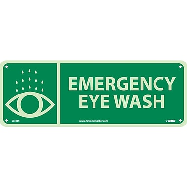 Emergency Eye Wash, 5X14, Glow Rigid