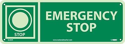 Emergency Stop, 5X14, Glow Rigid