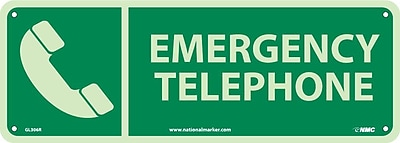 Emergency Telephone, 5X14, Glow Rigid