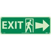Exit (W/ Door And Right Arrow), 5X14, Glow Rigid