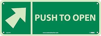 Push To Open (With Arrow), 5X14, Glow Rigid