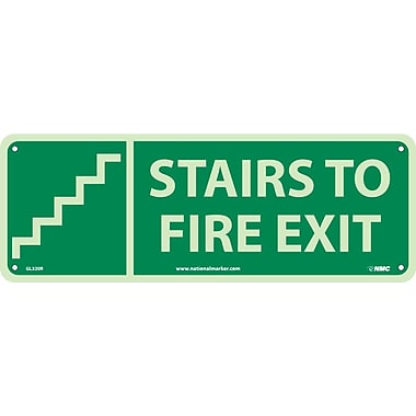 Stairs To Fire Exit (W/ Graphic), 5X14, Glow Rigid