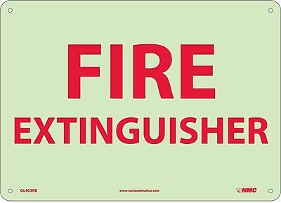Fire Extinguisher, 10X14, Glow Rigid