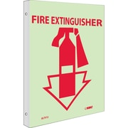 Fire, Fire Extinguisher, 10X8, Plastic Flangedglow