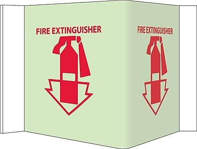 Fire, Visi, Fire Extinguisher, 5.75X 8.75, Acrylicglow