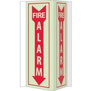 Fire, Visi, Fire Alarm, 16X8.75, Acrylicglow