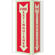 National Marker - Panneau Fire Extinguisher, 16 po x 8 3/4 po, acrylique brillant