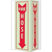 "Fire, Visi, Fire Hose, 16"" x 8-3/4"", Acrylicglow"
