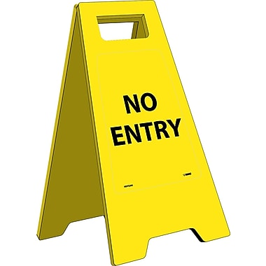 Floor Sign, Heavy Duty, No Entry, English Only, 10 3/4 x 24 5/8